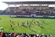 熊野高校激励会・花園ラグビー場にて