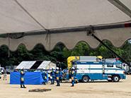警察学校での防災訓練視察