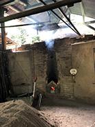 紀州備長炭の窯、見学