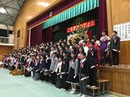 宮前小学校の卒業式